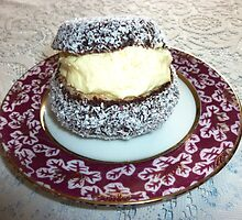 Chocolate coated Cream Cake with coconut by EdsMum