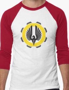 DarkHorse Design Logo Yellow Men's Baseball ¾ T-Shirt