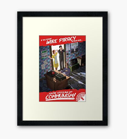 Wire Piracy is Killing the Record Industry Framed Print