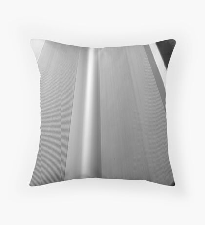 A study in black,white Throw Pillow