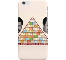 The Ron Swanson Pyramid of Greatness iPhone Case/Skin