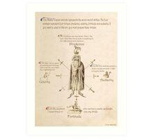 Fiore dei Liberi Getty Segno (English) Art Print
