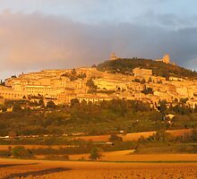 Sunset over Assisi by RosemaryO