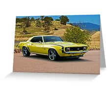 1969 Chevrolet Camaro 'Cowl Induction' Greeting Card