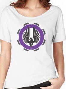 DarkHorse Design Logo Purple Women's Relaxed Fit T-Shirt