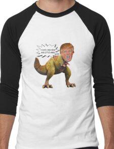 Funny Donald Trump Tiny the T-Rex Meme Men's Baseball ¾ T-Shirt