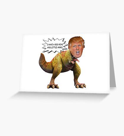 Funny Donald Trump Tiny the T-Rex Meme Greeting Card