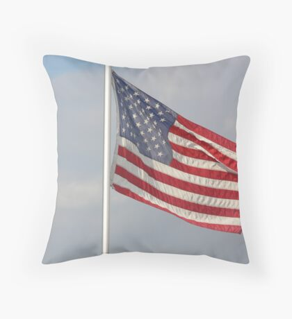 Untied States Of America Flag of our fathers Throw Pillow