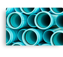 Blue Pipes Canvas Print
