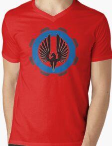 DarkHorse Design Logo Blue Mens V-Neck T-Shirt