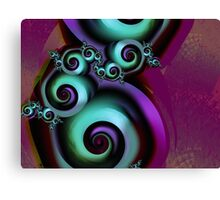Painted Swirls Canvas Print
