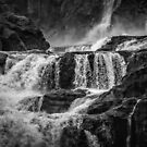 Iguaza Falls - Over the Rocks - Monochrome by photograham