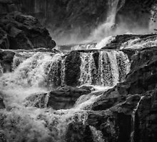 Iguaza Falls - Over the Rocks - Monochrome by photograham