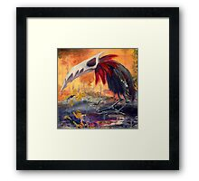Warbird on the Oilfields Framed Print