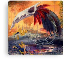 Warbird on the Oilfields Canvas Print