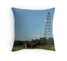 Old fashioned oil well Throw Pillow