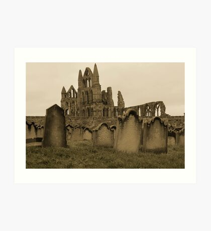 Whitby Gravestones Art Print