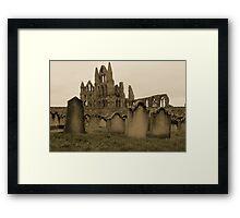 Whitby Gravestones Framed Print