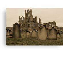Whitby Gravestones Canvas Print