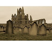 Whitby Gravestones Photographic Print