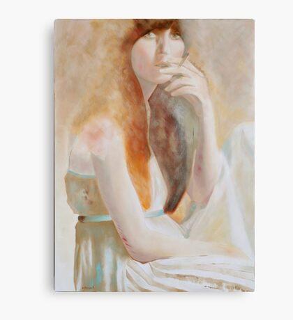 jeune fille a la cigarette Canvas Print