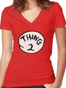 Thing 2 Women's Fitted V-Neck T-Shirt