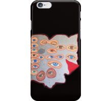 Eyes peering from behind the shield iPhone Case/Skin
