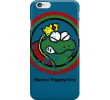 Hates: Vegetables (Battle Damage) iPhone Case/Skin