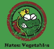 Hates: Vegetables (Battle Damage) Kids Tee