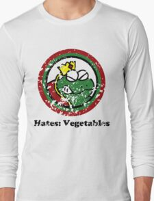 Hates: Vegetables (Battle Damage) Long Sleeve T-Shirt