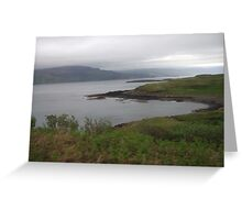 Landscape on the Fhionnport to Craignure Road Greeting Card