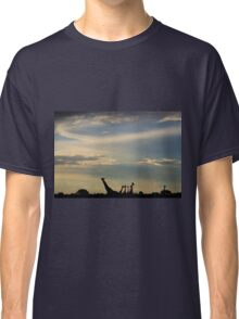 Giraffe Silhouette - Epic Sky and Freedom Classic T-Shirt