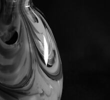 Murano glass in Black and White by rhonda reed