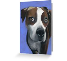 Athena dog portrait Greeting Card