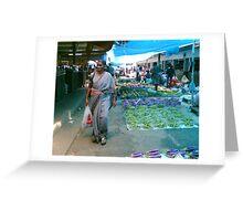Vegetable Market, Nadi, Fiji Greeting Card