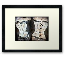 Written in Lingerie  Framed Print
