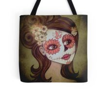 Sugar Skull Spring Tote Bag