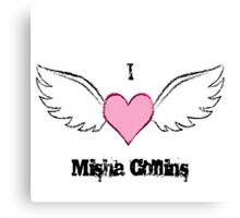 Misha Love With Wings Canvas Print
