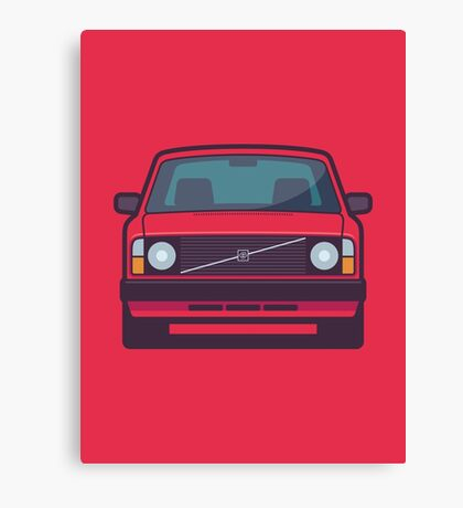 Volvo 240 (Red) Canvas Print