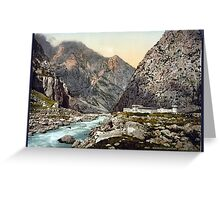 River in Mountains Greeting Card