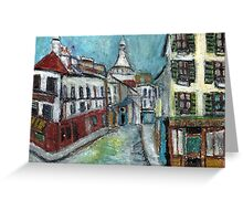Paris Street(after Utrillo) Greeting Card