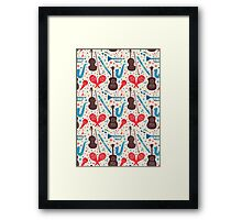 Music Instruments Pattern Framed Print