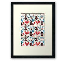 Music Instruments Pattern Framed Print