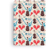 Music Instruments Pattern Canvas Print
