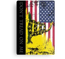 American Gadsden Flag Worn Metal Print