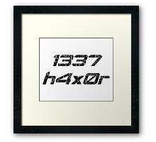 Leet Haxor 1337 Computer Hacker Framed Print