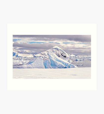 White Land Art Print