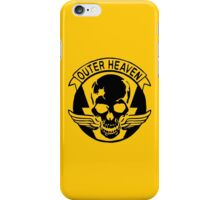 Outer Haven Logo Black iPhone Case/Skin
