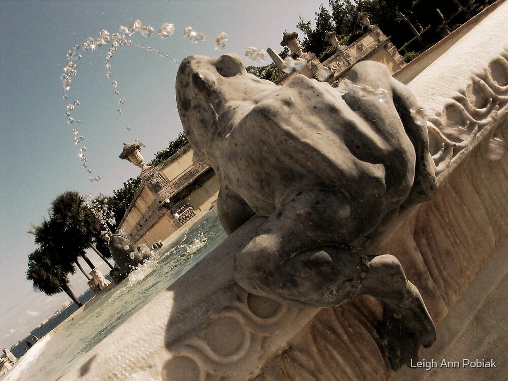 Frog fountain by Leigh Ann Pobiak