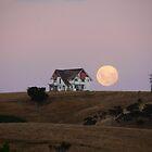 Big ol' house and big ol' moon by Brenda Anderson